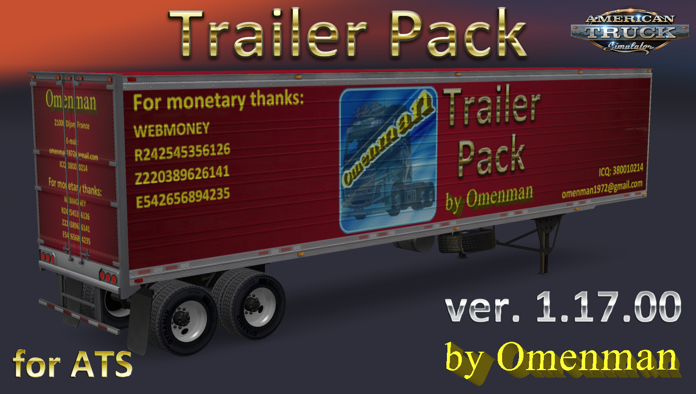 Trailer + Cargo Pack v1.17 by Omenman (1.31.x)