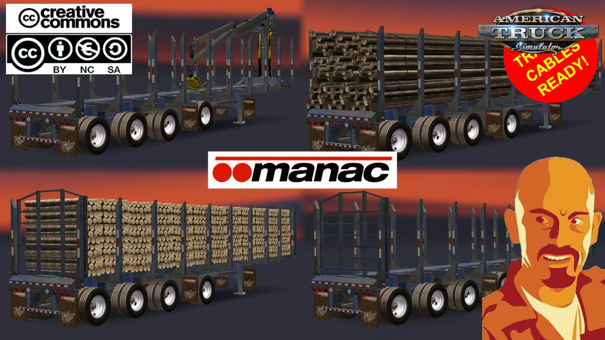 Manac 4 Axis Log Trailer for Ats [1.31.x]
