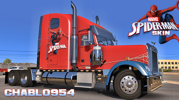 Spiderman Skin for Freightliner Classic XL v1.0 by Chablo954 (1.31.x)