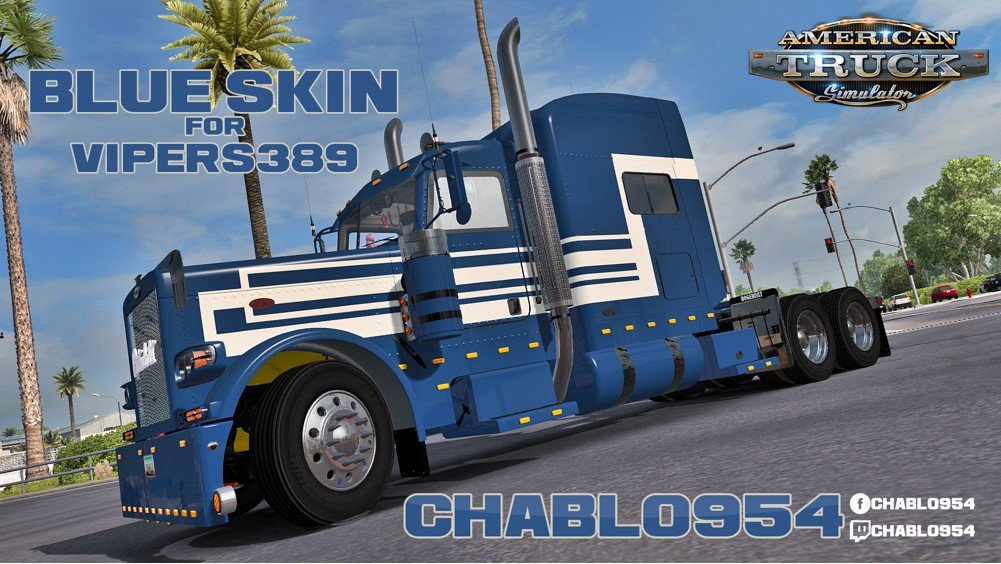 Blue Skin for Peterbilt Viper 389 v1.0 by Chablo954 (1.31.x)