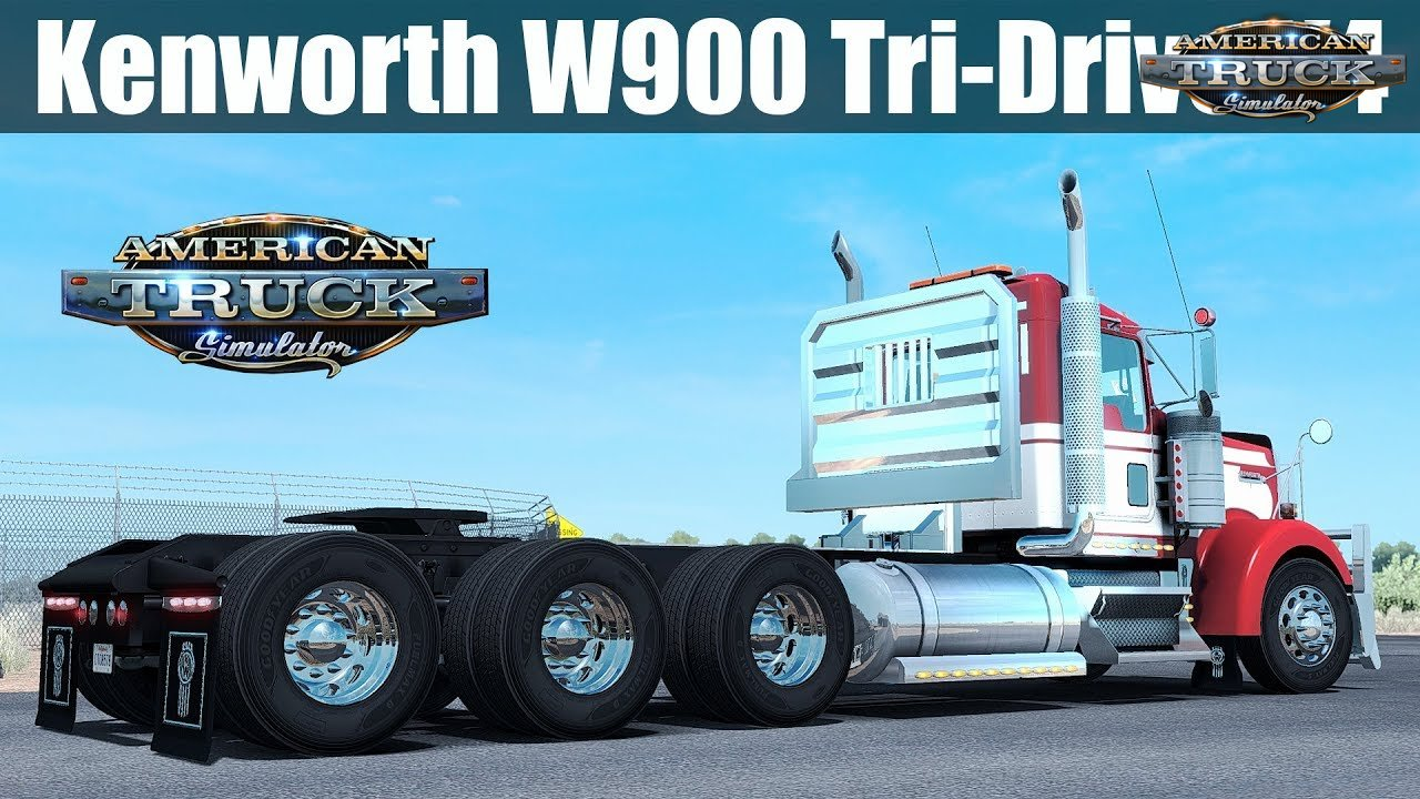 Kenworth W900 Tri-Drive (Update + Fix) v4.0 by Bu5ted (1.31.x)