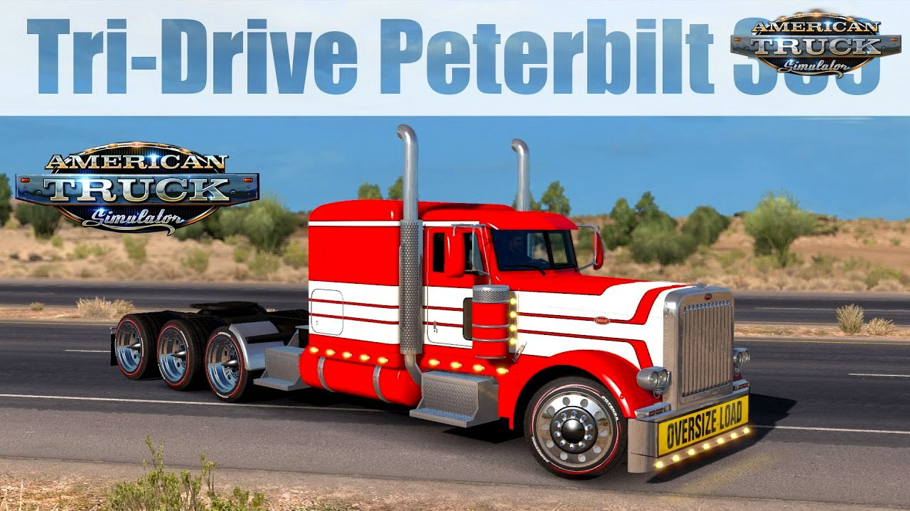 Tri-Drive Peterbilt 389 (Update + Fix) v1.0 by Bu5ted (1.31.x)