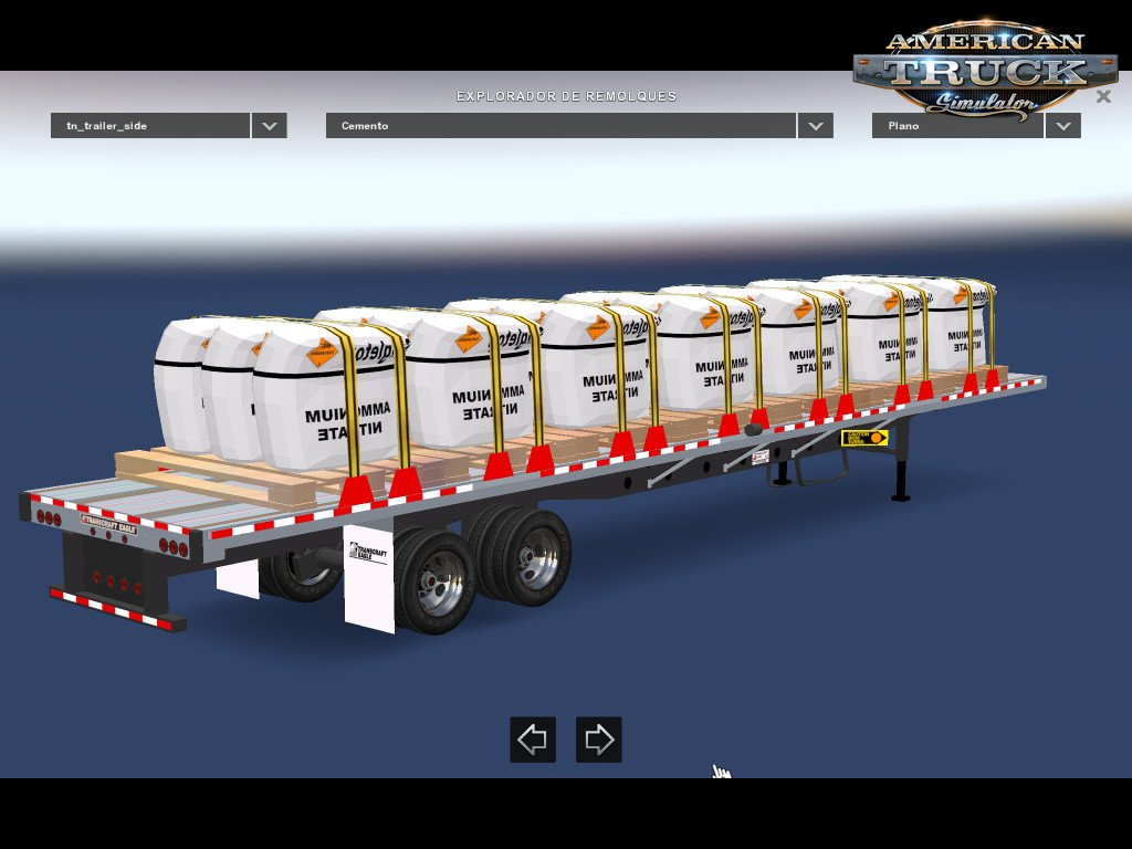 Flat trailer with Sacks of Cement for Ats
