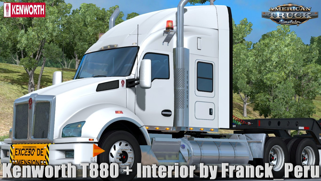 Kenworth T880 + Interior v1.0 by Franck_Peru (1.31.x)