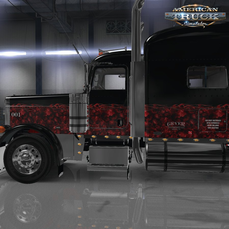 Hell of Wheels Skin for Peterbilt 389 v1.0 (1.32.x)