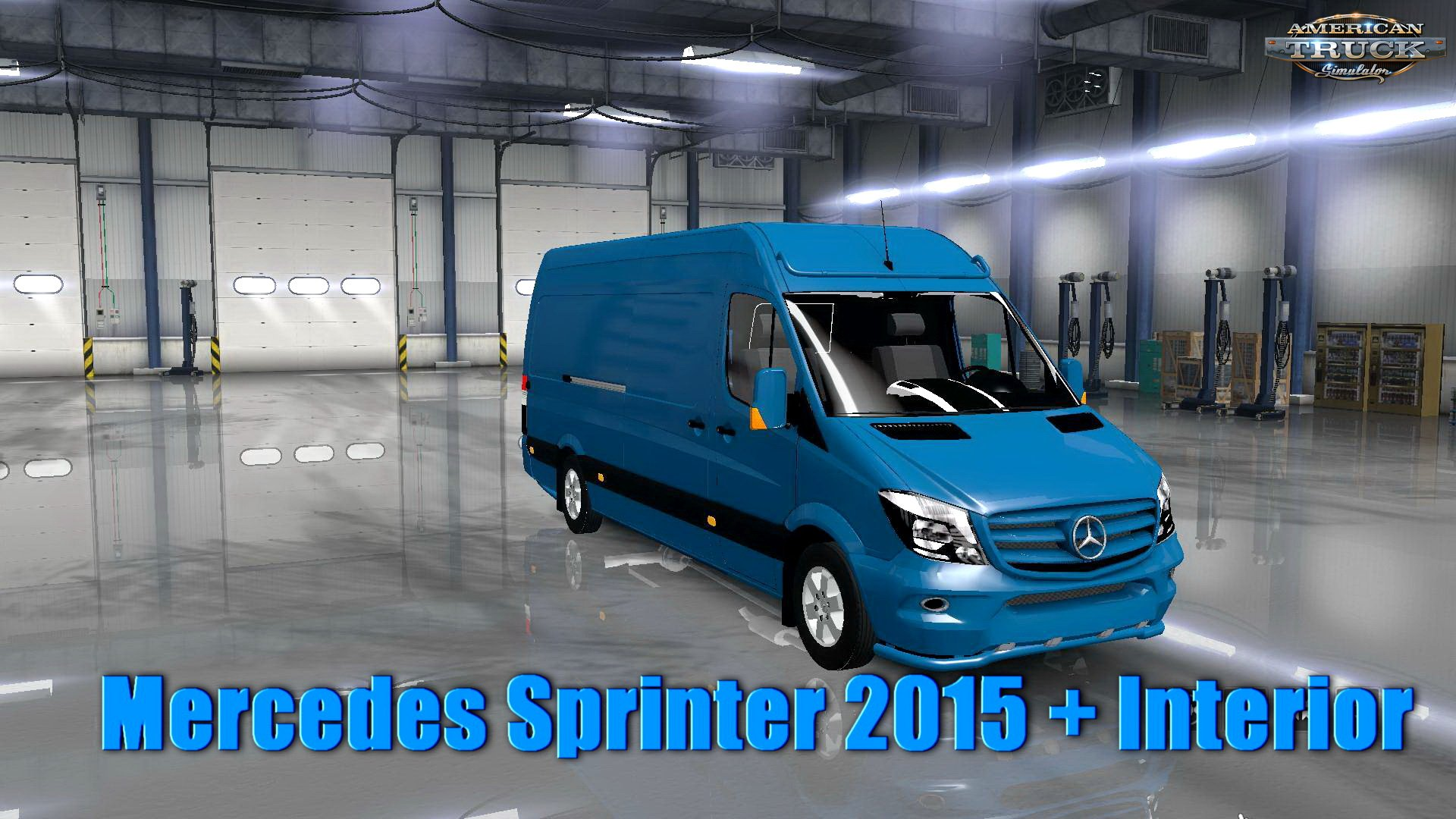 Mercedes Sprinter 2015 + Interior v1.0 (1.32.x)