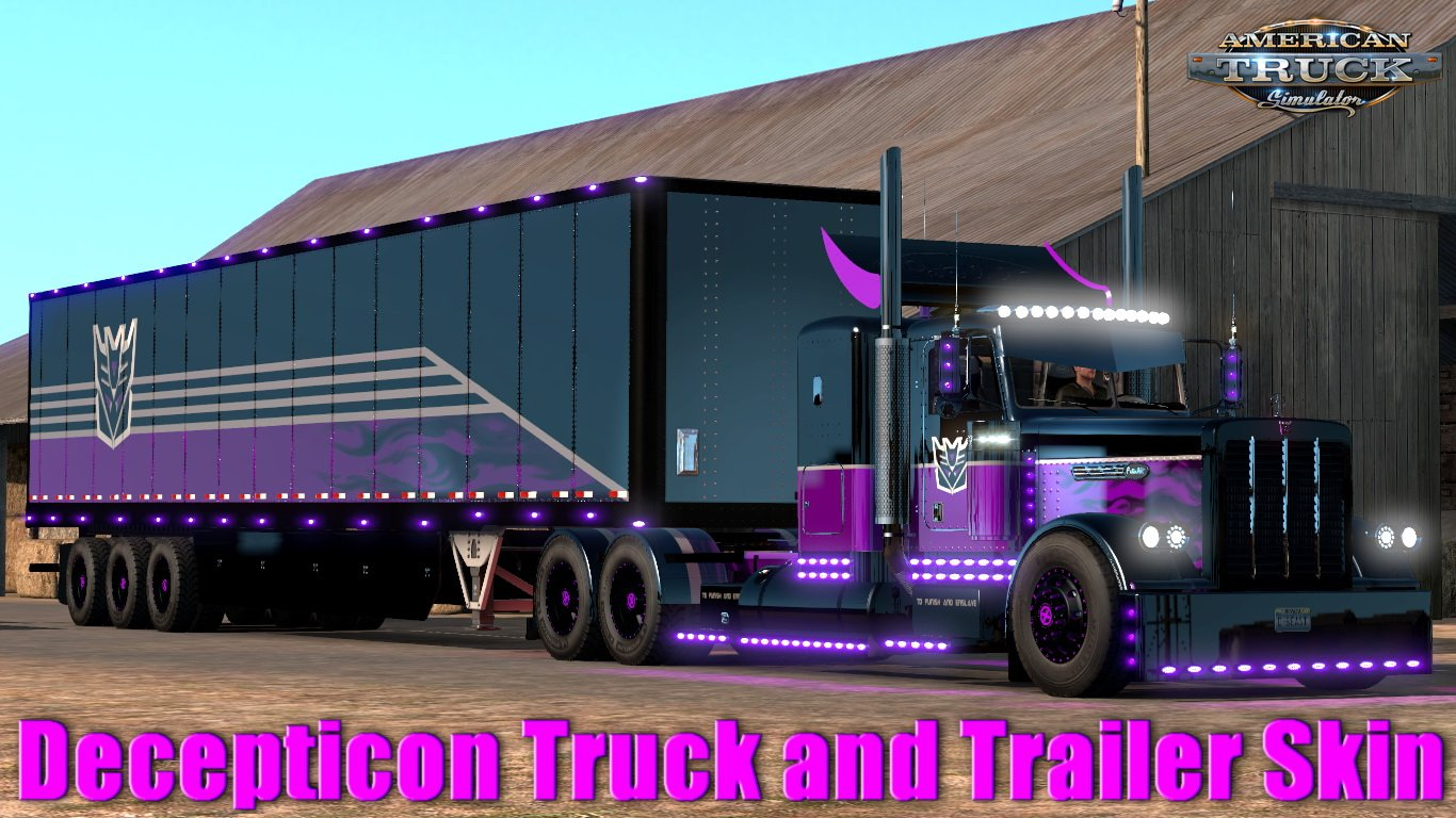 Decepticon Truck and Trailer Skin + Parts (Viper2+Outlaw Trucks) + Light pack 1.6 (1.32.x)