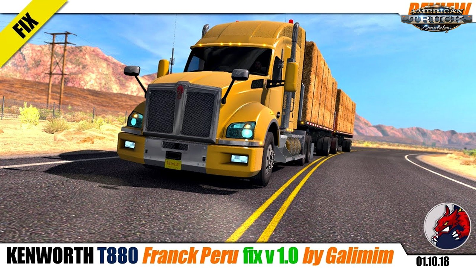 Kenworth T880 fix v1.0 for Ats