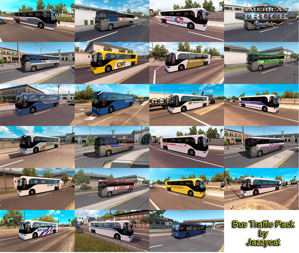 Bus Traffic Pack v1.3 by Jazzycat
