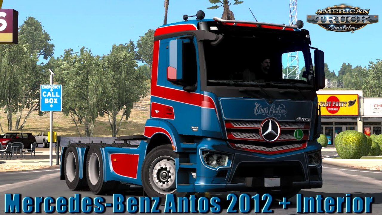 Mercedes-Benz Antos 2012 + Interior v1.0 (1.32.x)