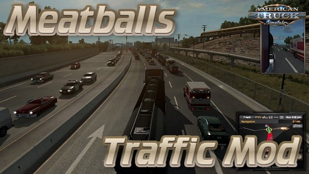 Meatballs Traffic Density Mod v1.7.8 (1.33.x) for ATS