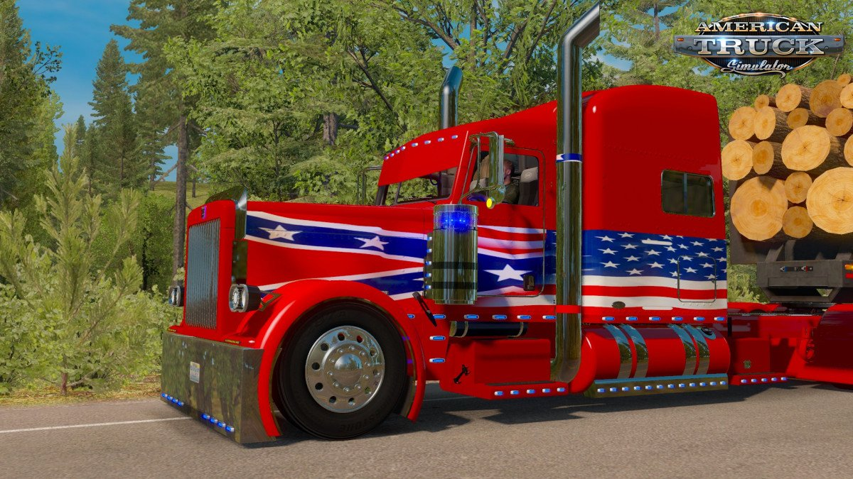 Rebel Outlaw Skin for Peterbilt 389 v1.0 (1.32.x)