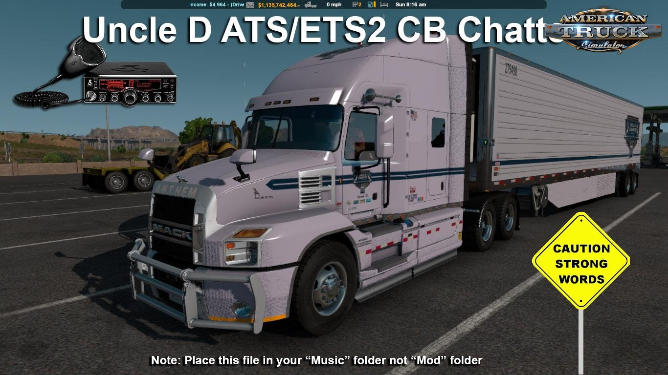 2018 Uncle D CB Chatter Mod v1.0 for ATS (1.32.x)