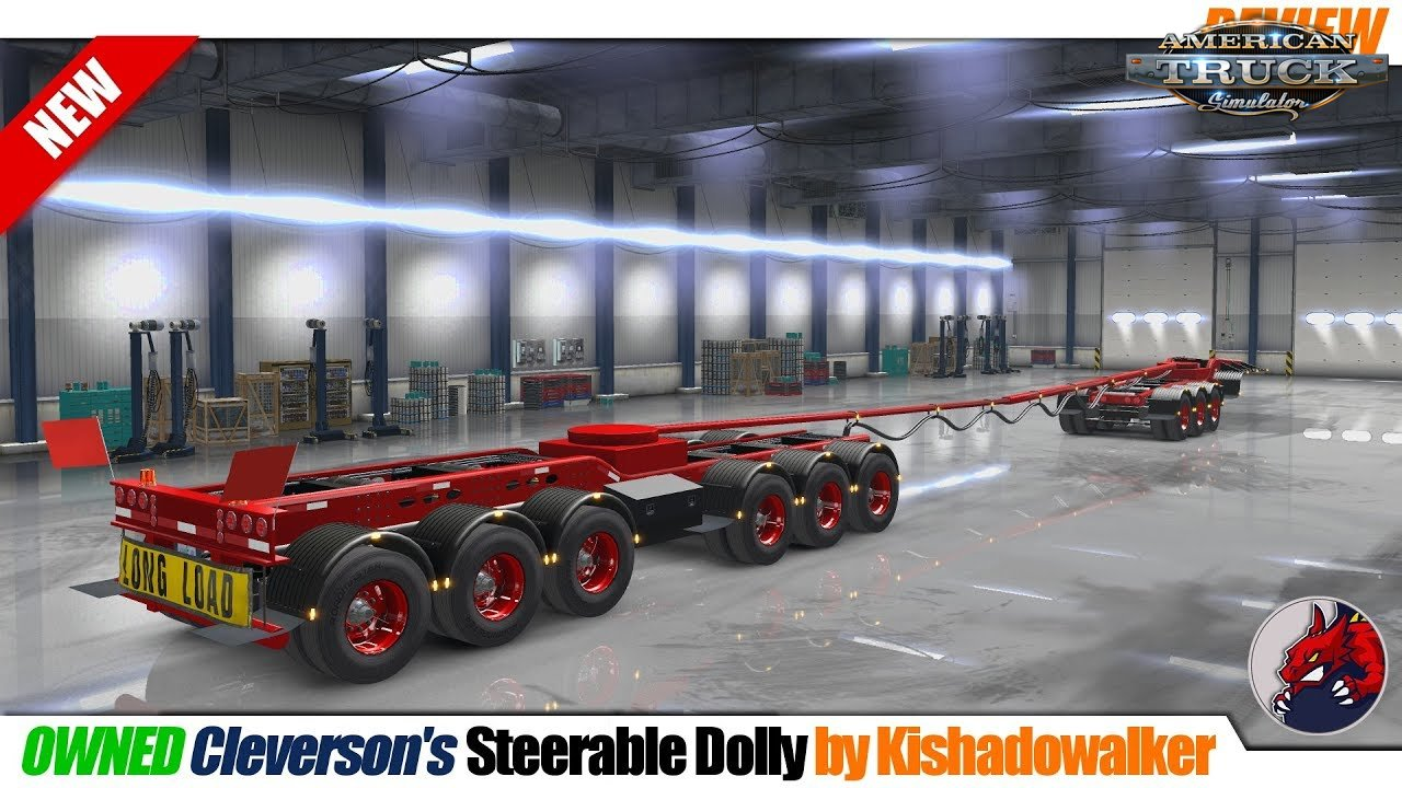 Oversize Owned Dolly Trailer (9 axles with steer axles) v1.0 (1.32.x)
