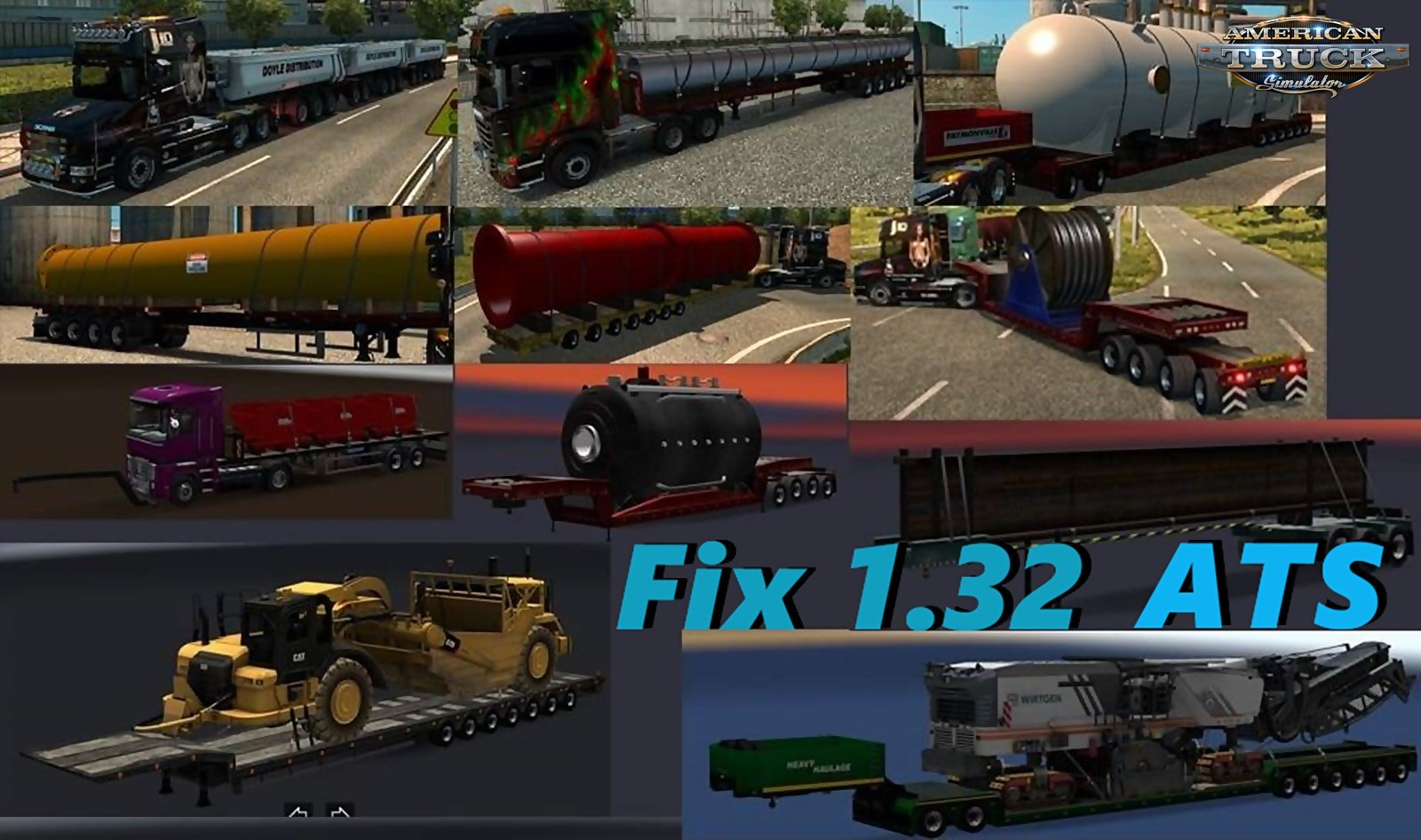 Ats Fix 1.32 for Chris45 Trailers Pack v 9.10