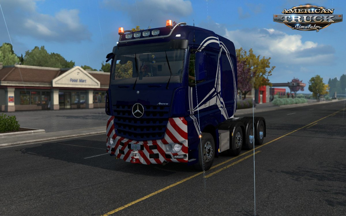Mercedes Big Stars (Actros/Arocs SLT) v1.0 for ATS (1.32.x)