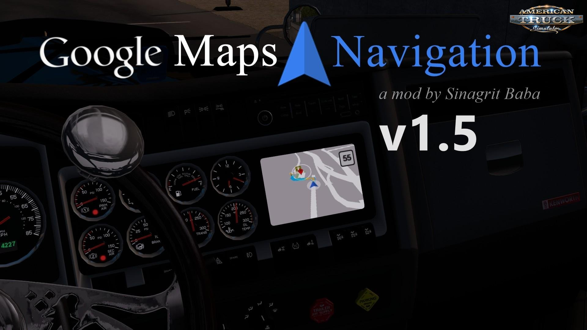 Google Maps Navigation v1.5 for ATS (1.33.x)