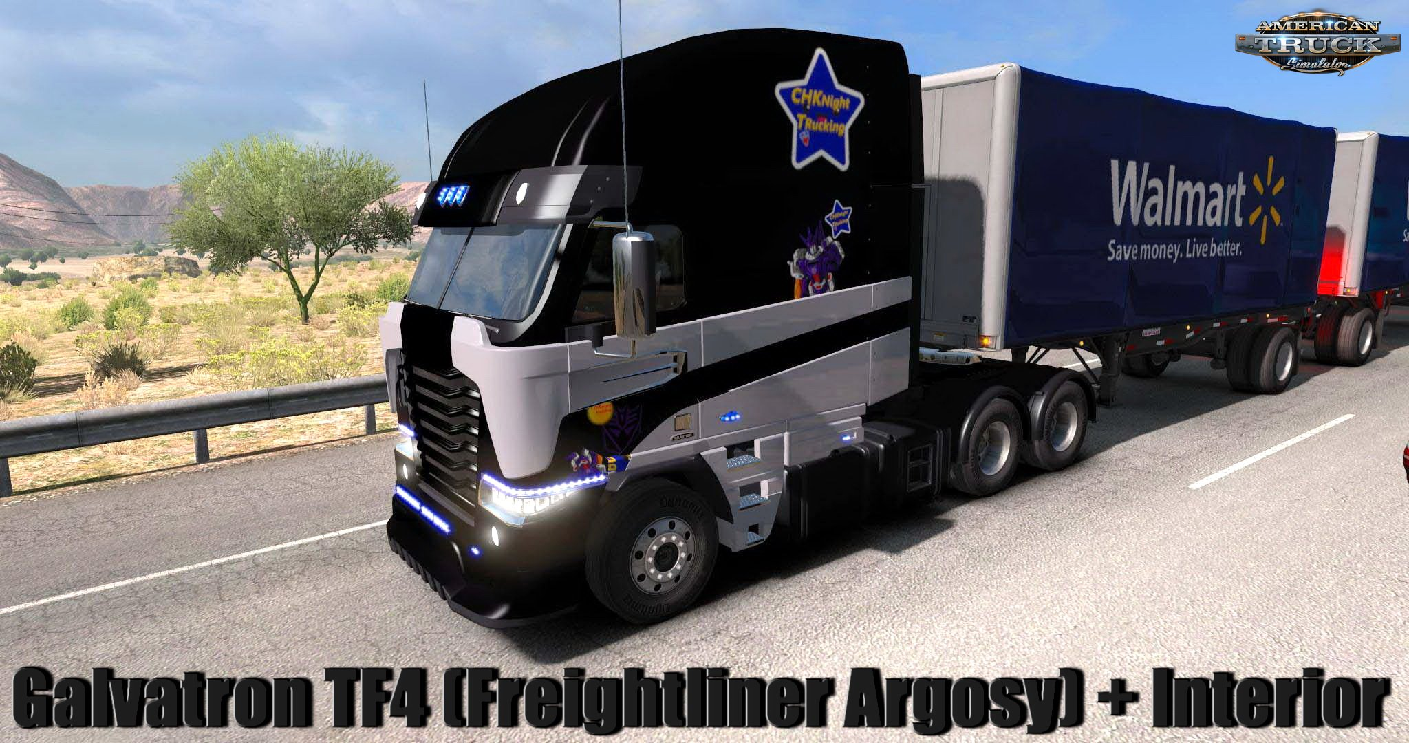 Galvatron TF4 (Freightliner Argosy) + Interior v1.1 Edit by CHKnight (1.33.x)