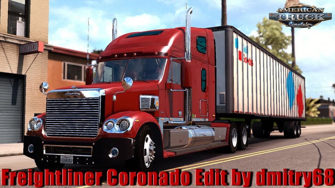Freightliner Coronado + Interior v1.1 Edit by dmitry68 (1.33.x) for ATS