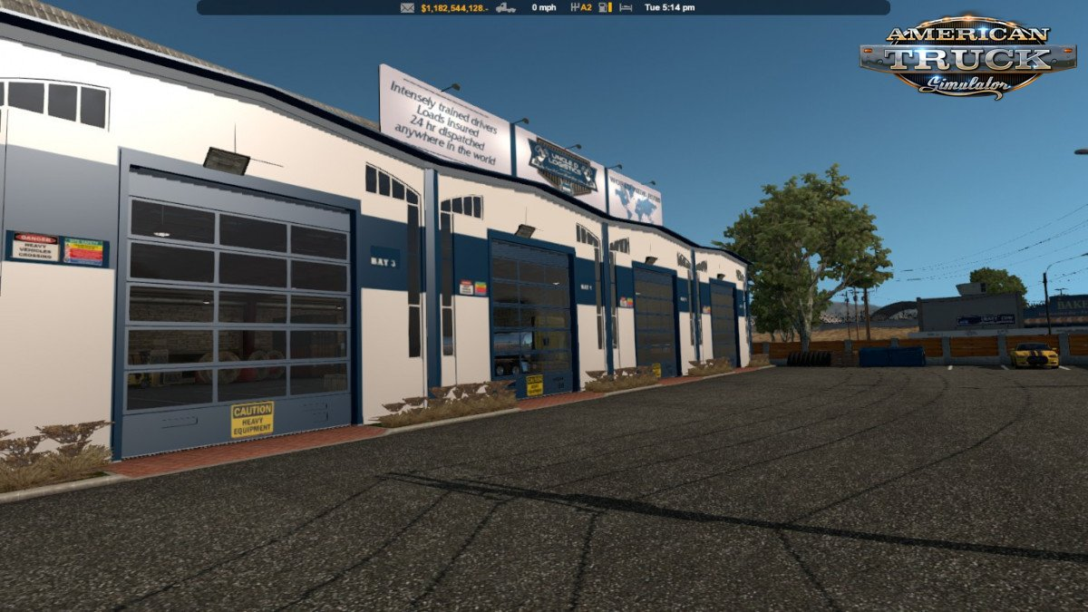 Uncle D Logistics ATS VTC Garage Skin v1.0 (1.33.x) for ATS