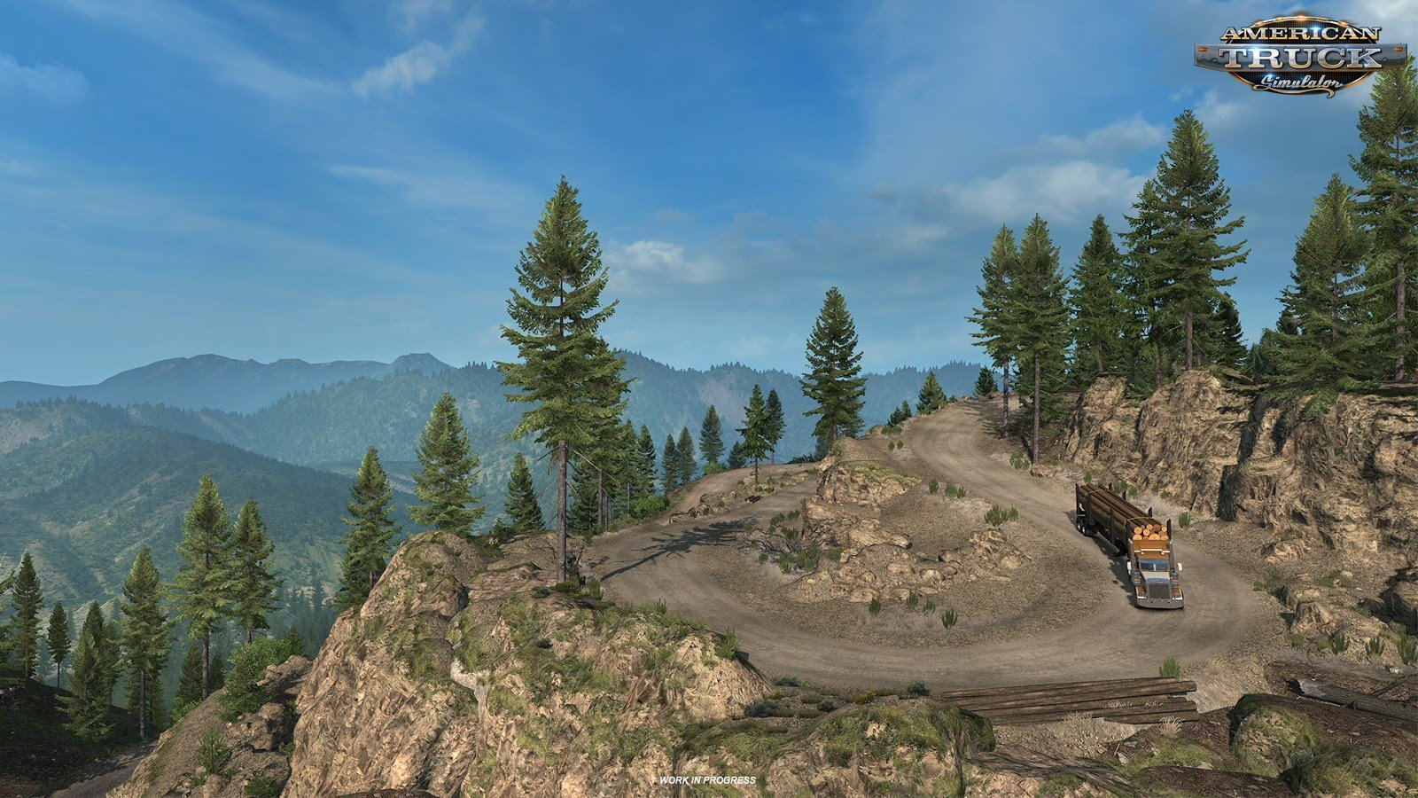 Washington DLC: Logging cliff road