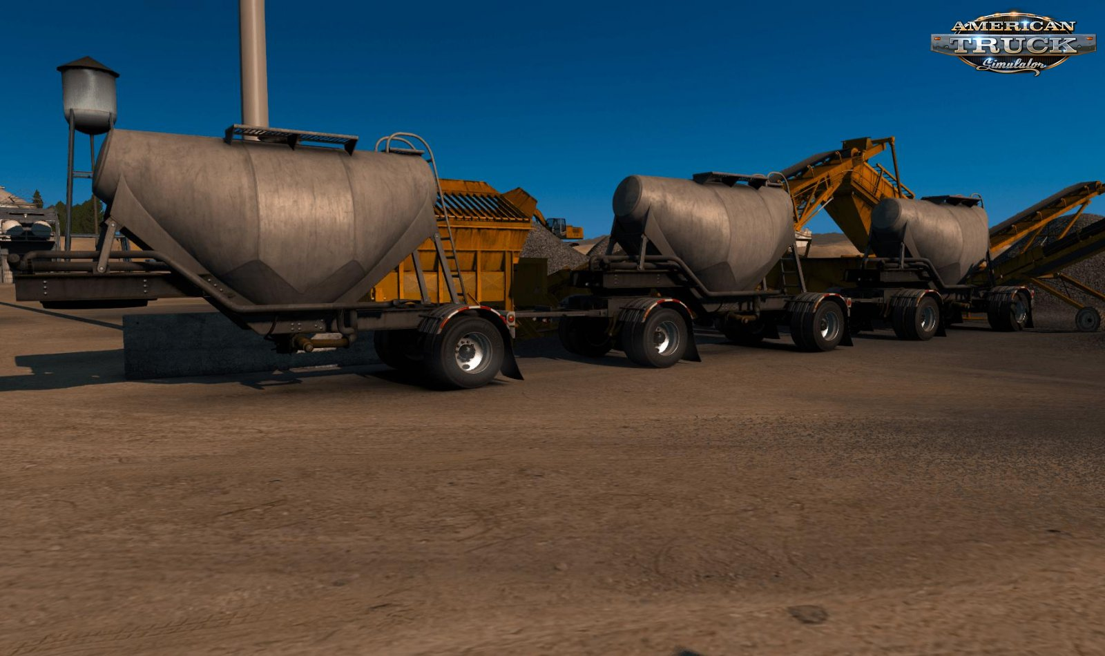Cement Triple Hopper MP-SP Multiplayer TruckersMP v1.0 (1.34.x)