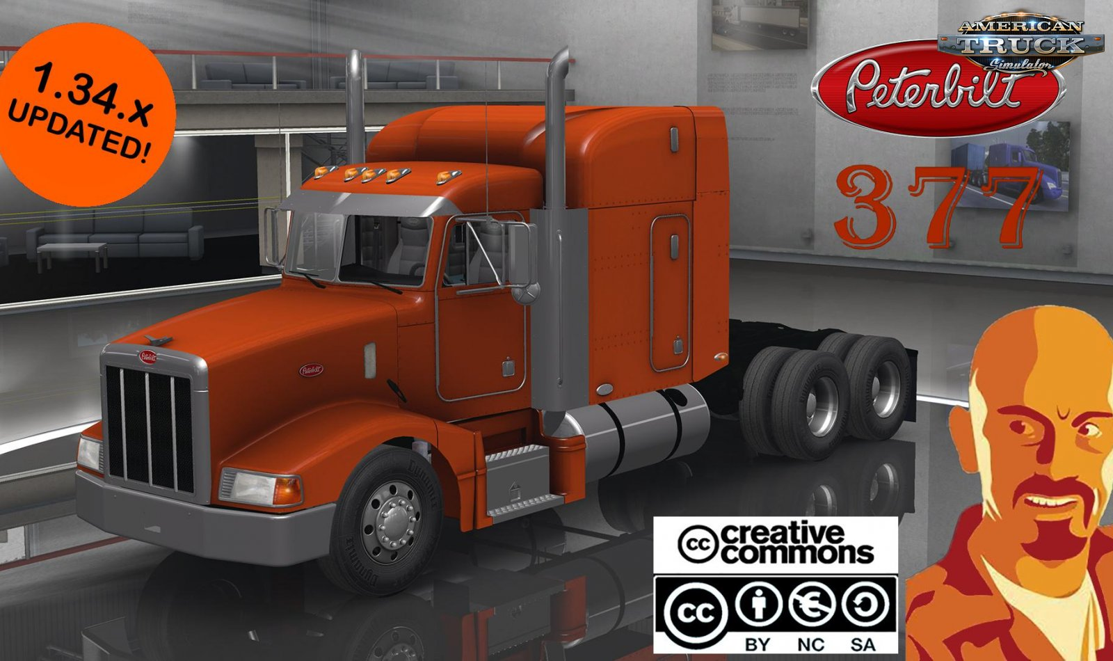 Peterbilt 377 + Interior v1.0 Reworked by CyrusTheVirus (1.34.x)