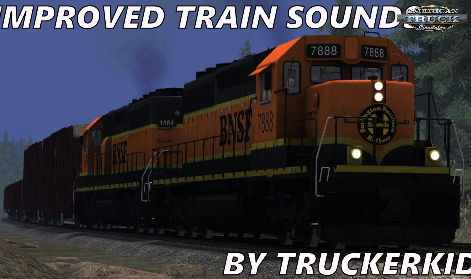 Improved Train Sounds v1.0 for ATS (Update) (1.34.x)