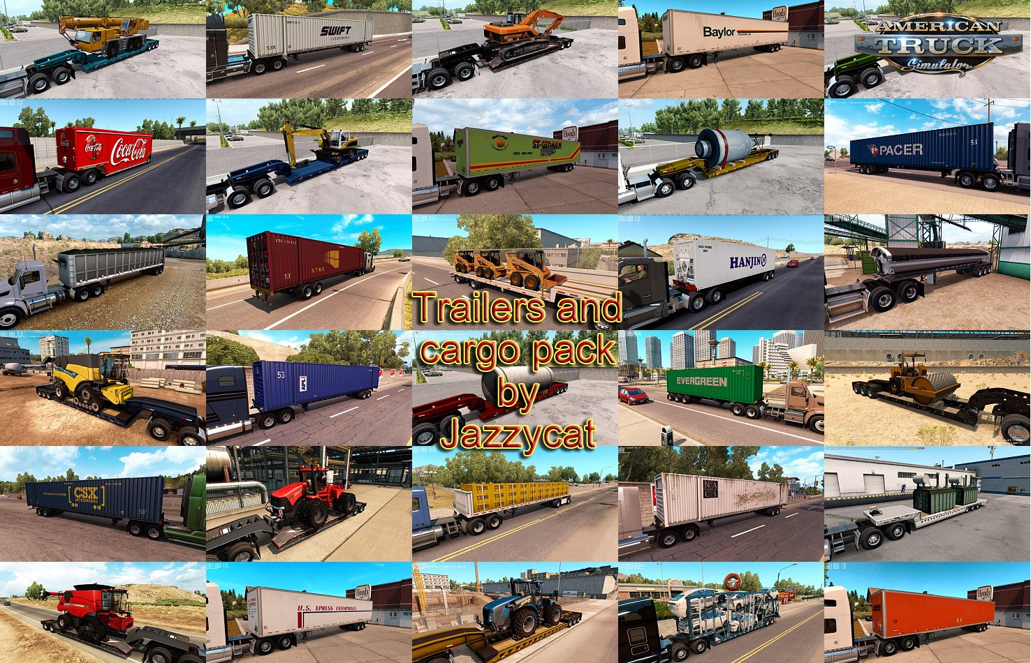 Trailers and Cargo Pack v3.1.1 by Jazzycat (1.36.x)