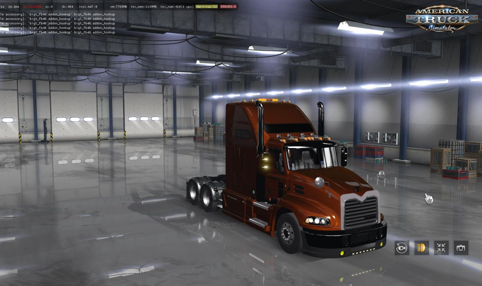 Mack CXU613 Pinnacle + Interior v1.0 (1.34.x)