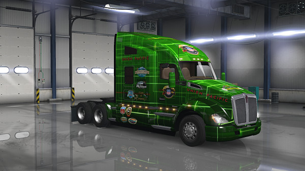 Union Pacific Skin for Kenworth T680 v1.0 (1.35.x)