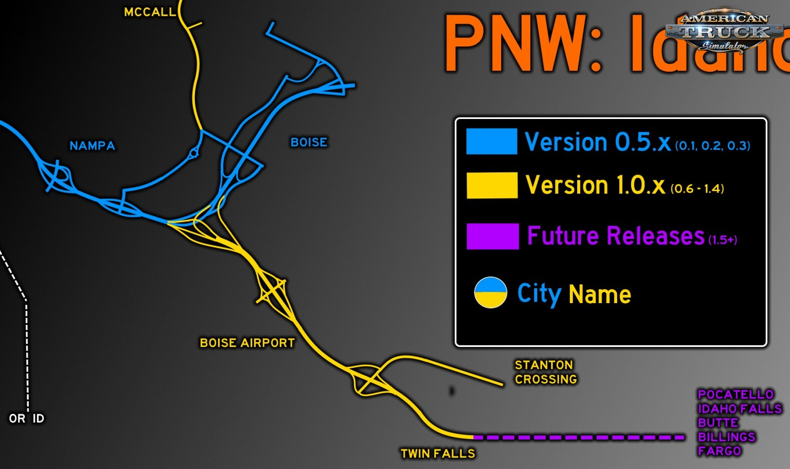 Project North West Map (Boise & Nampa) v0.1.2 (1.35.x)