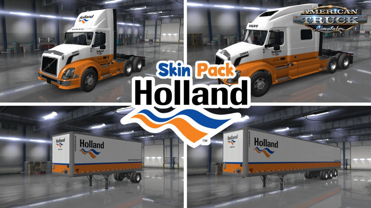 Holland Truck & Trailer Skin Pack v1.0 (1.35.x)