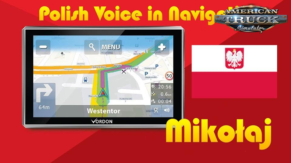 Navigation Voice in Polish Language v1.0 (1.35.x) for ATS
