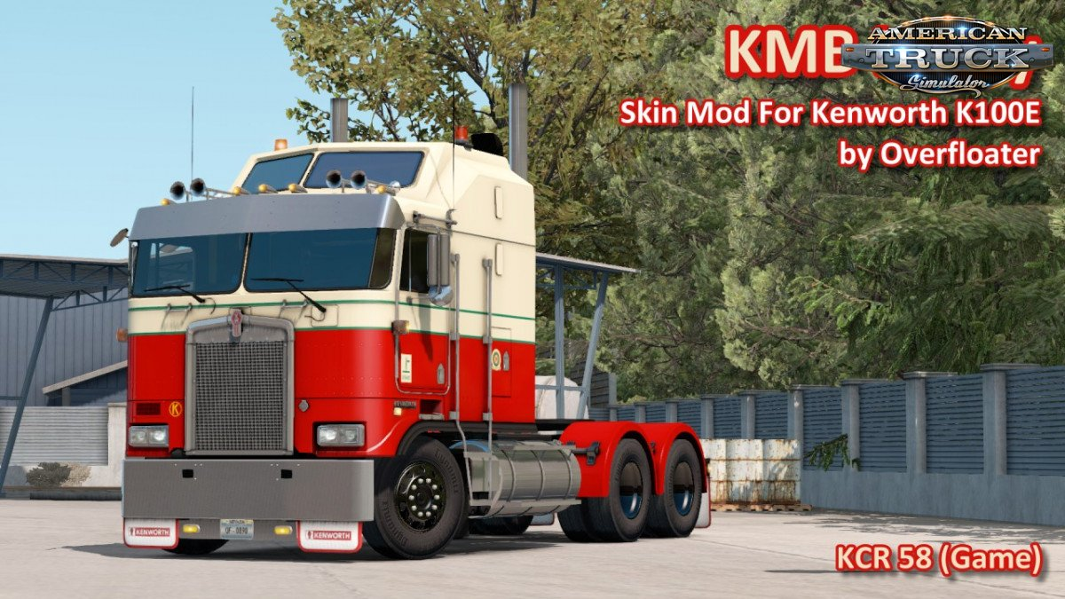 KMB Livery Skin for Kenworth K100E by Overfloater v1.0 (1.35.x)