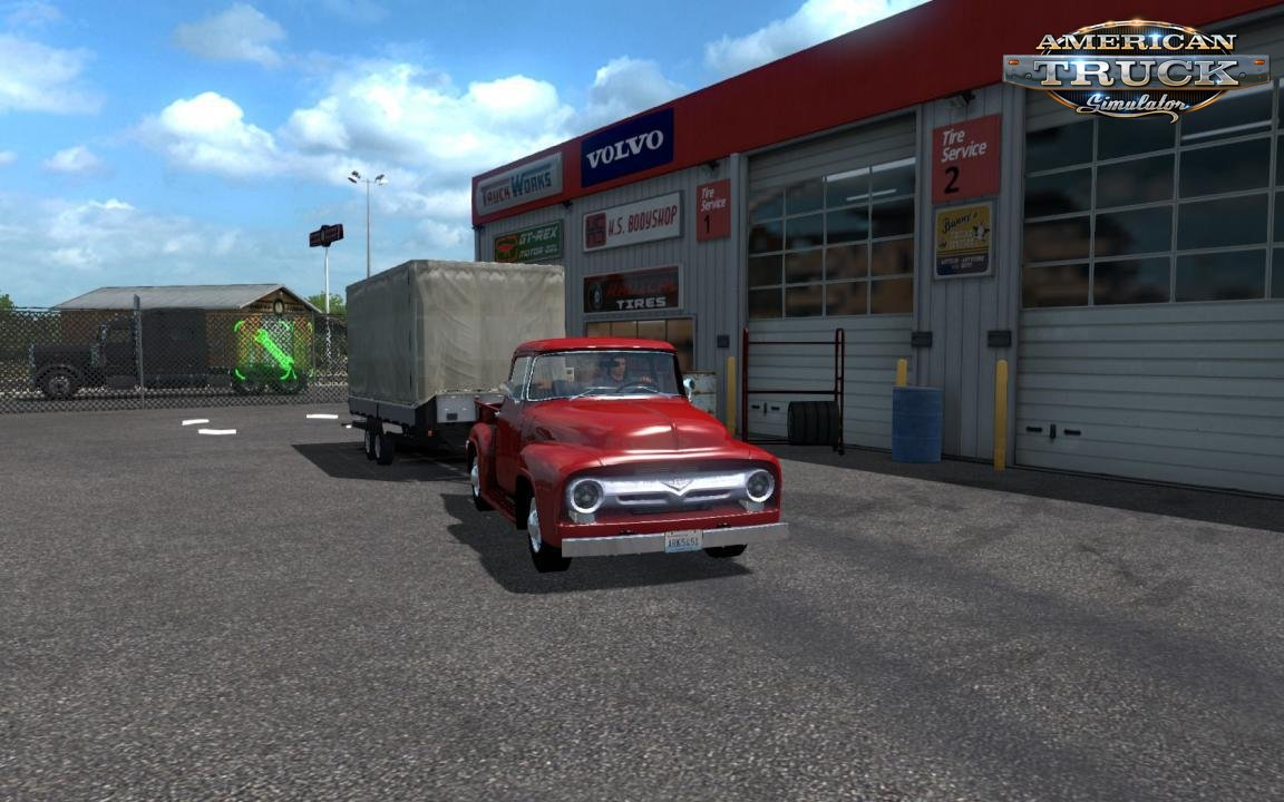 Ford F-100 Custom Cab 1956 + Mini Trailer v1.2 (1.35.x) for ATS
