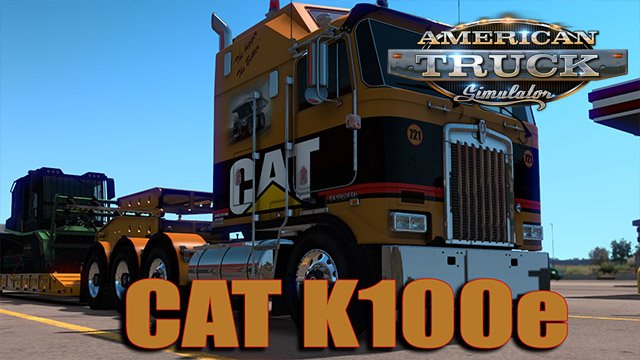 CAT Skin for Kenworth K100-E by Overfloater v1.0 (1.35.x)