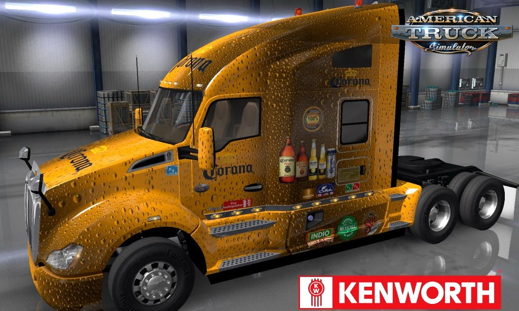 IDB Corona Skin for Kenworth T680 v1.0 (1.35.x)