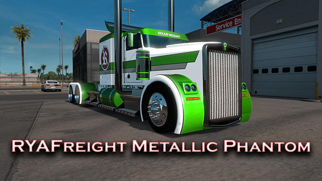 RYAFreight Metallic Skin for Phantom Truck v1.0 (1.35.x)