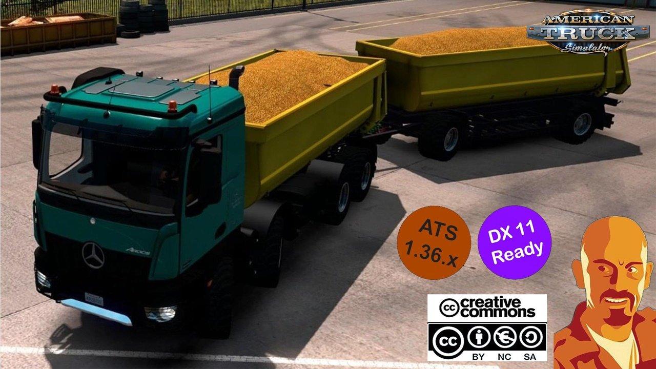 Kipper Agrar Trailer for Rear Hook Trucks in ATS 1.36.x DX11
