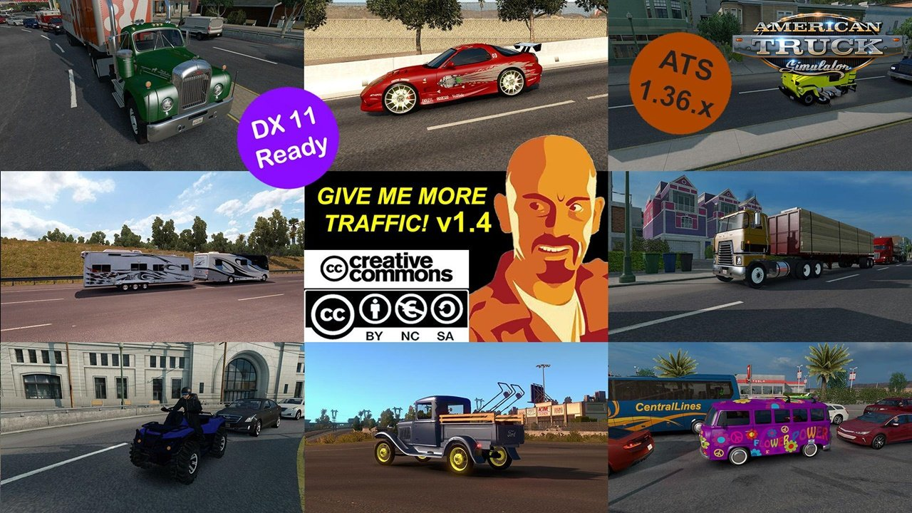 Give me More Traffic v4.0 for ATS (1.36.x Dx11)