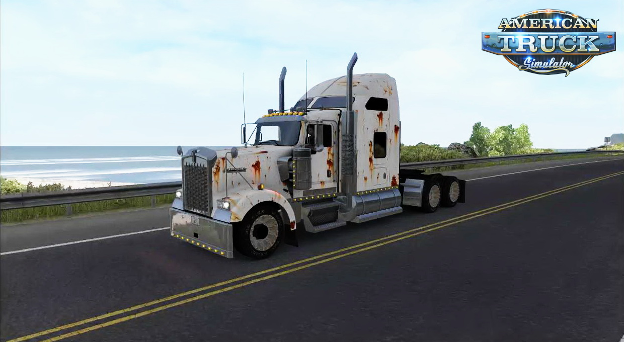 Kenworth W900 Rusted Skin + Matching Interior v1.0