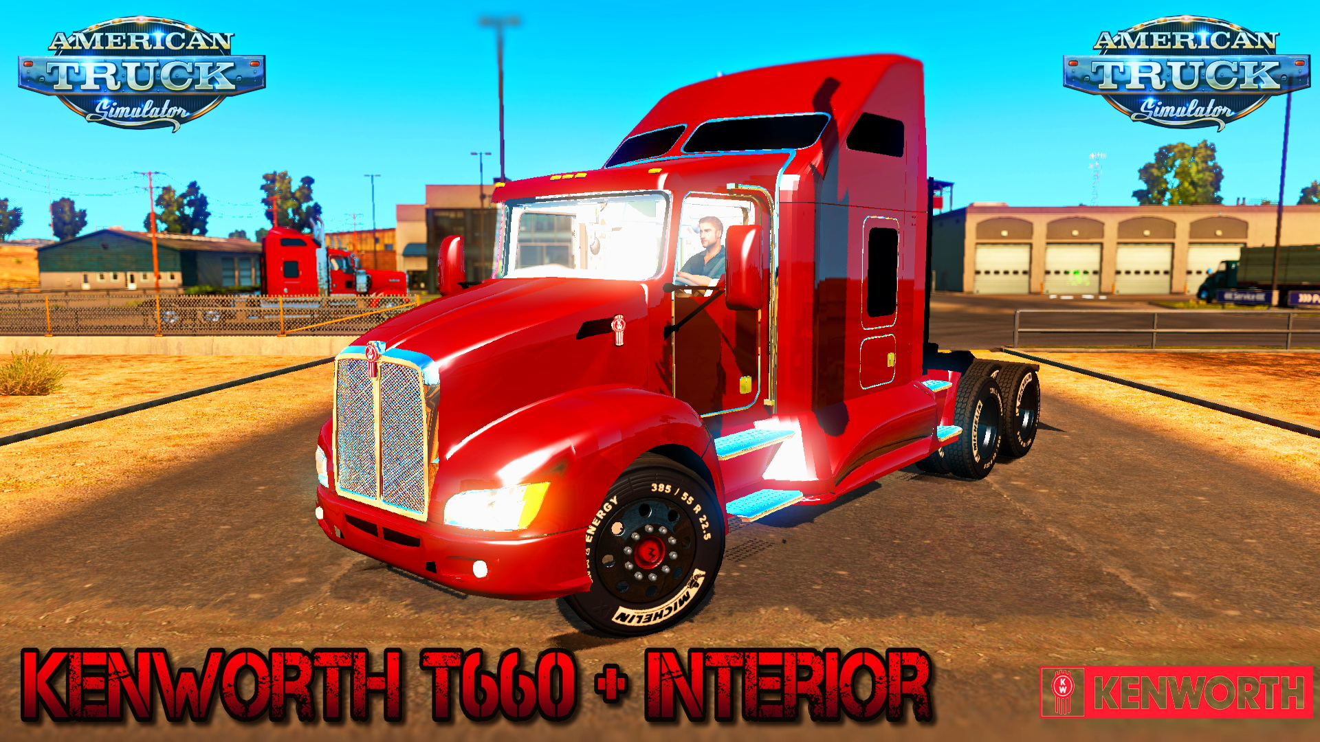 Kenworth T660 + Interior v1.0 for ATS