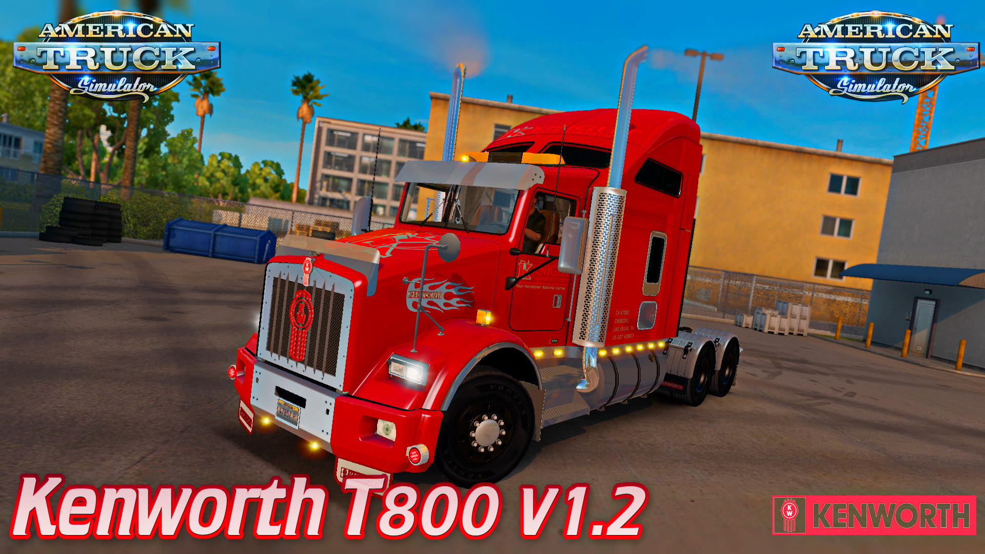 Kenworth T800 + Interior v1.2.1