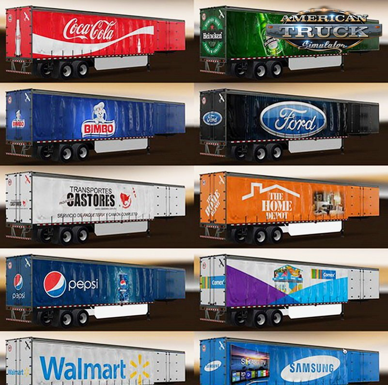 Mexican & American Companies Trailers Skin Pack v1.0
