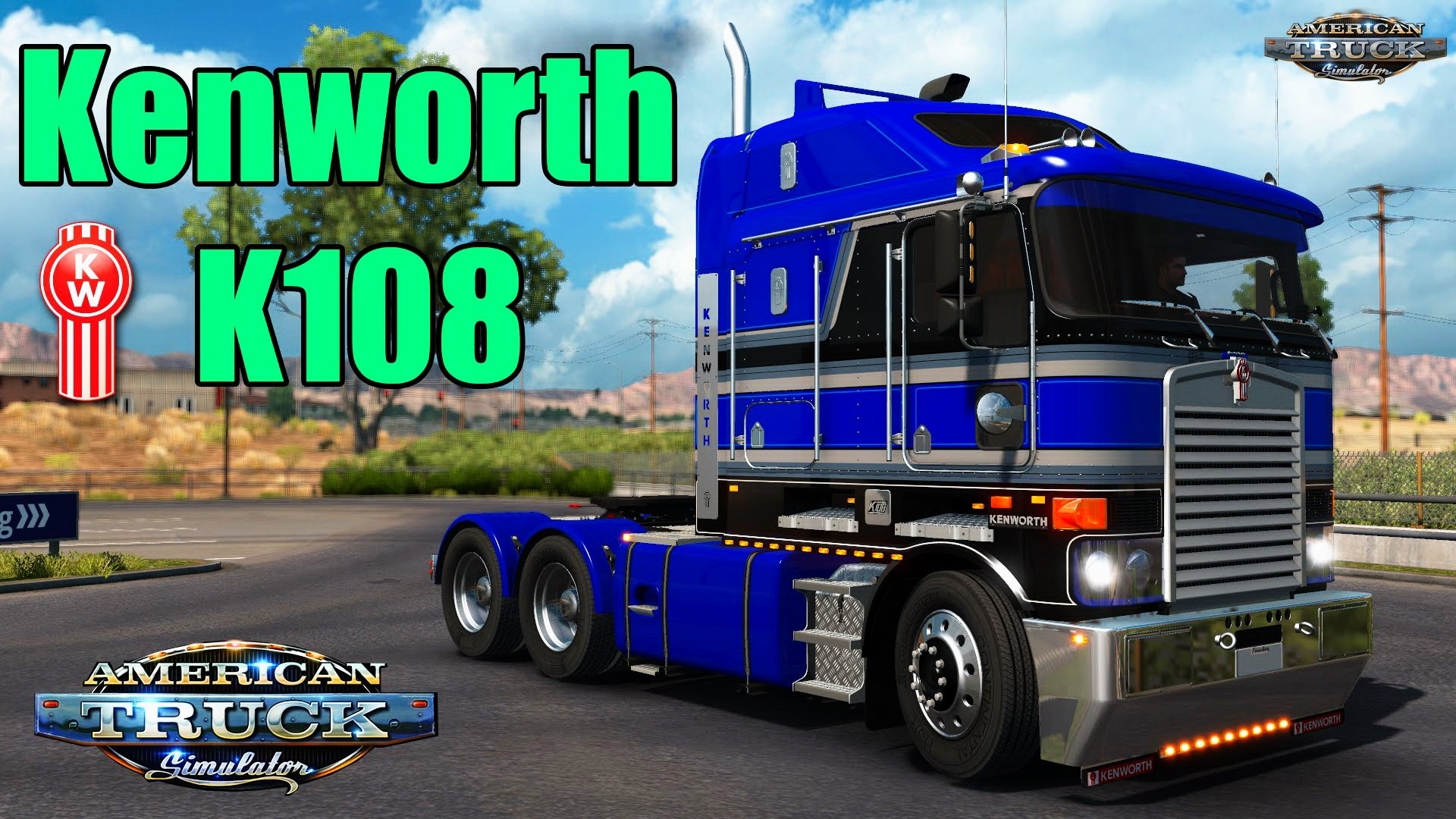 Kenworth K108 + Interior v2.0 by RTA Team (v1.34.x) for ATS