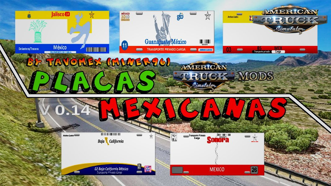 Mexican plates v0.14 (Beta Version) (v1.6.x)