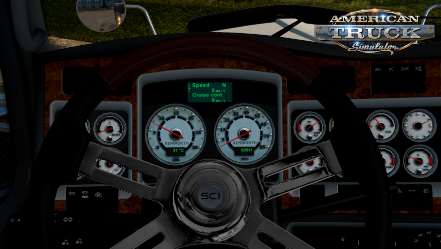 Kenworth W900 White Dashboard for Ats