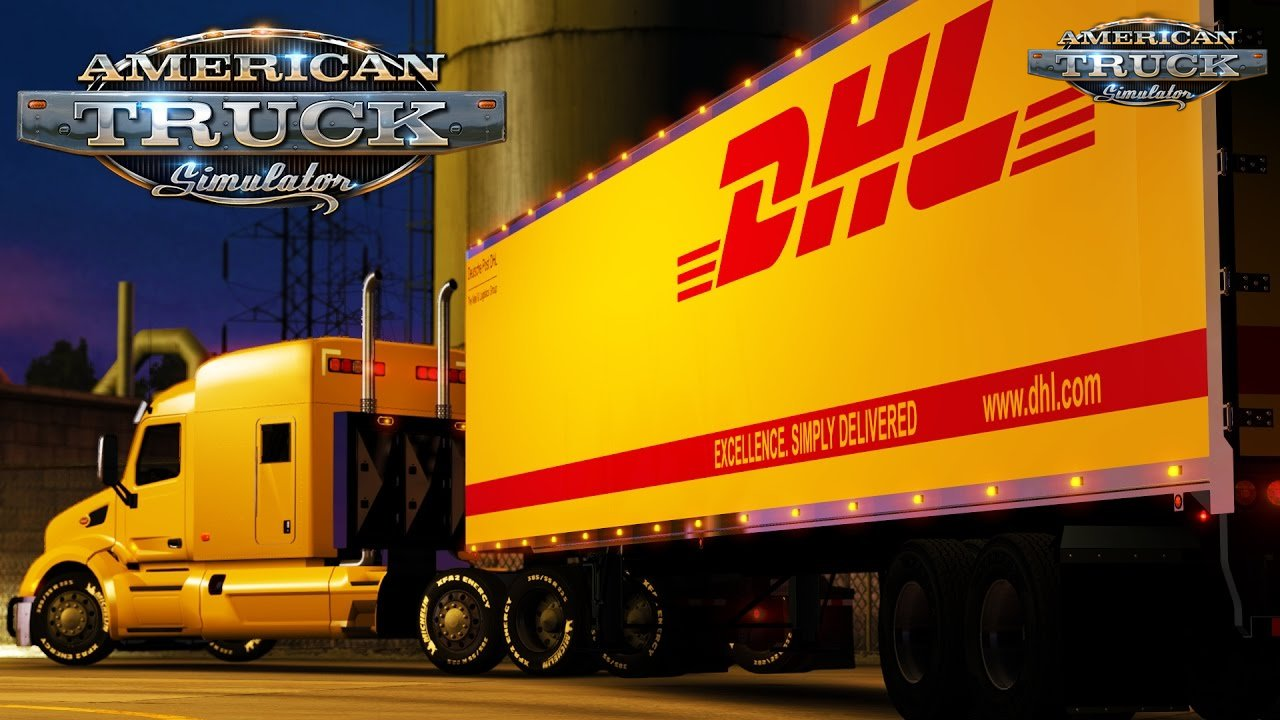 DHL trailer + Peterbilt 579 Tom Dooley - American Truck Simulator