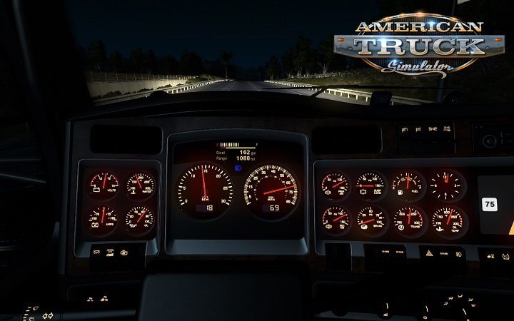 Kenworth W900 dashboard for Ats